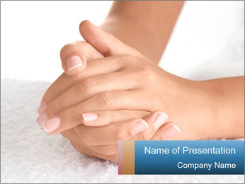 Perfectly Manicured Hands PowerPoint Template - Slide 1