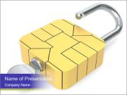Yellow Lock PowerPoint Templates