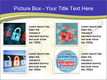 Yellow Lock PowerPoint Template - Slide 14