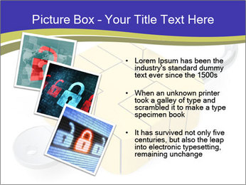 Yellow Lock PowerPoint Template - Slide 17