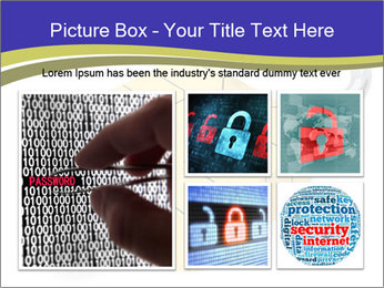 Yellow Lock PowerPoint Template - Slide 19