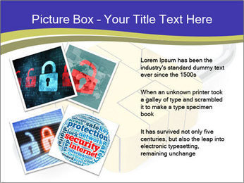 Yellow Lock PowerPoint Template - Slide 23