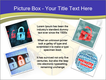 Yellow Lock PowerPoint Template - Slide 24