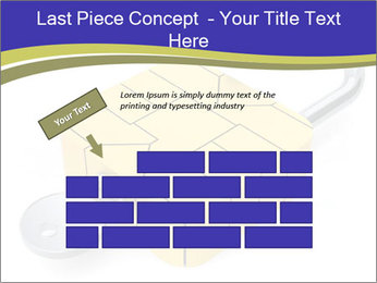Yellow Lock PowerPoint Template - Slide 46