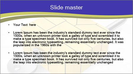Yellow Lock PowerPoint Template - Slide 2
