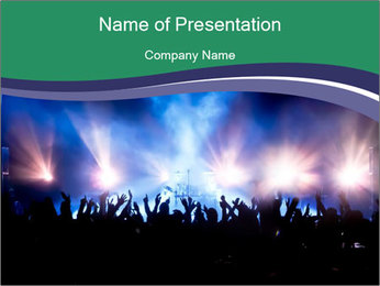Live Music Festival PowerPoint Template - Slide 1