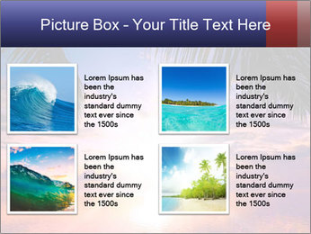 Bright Sun And Coconut Tree PowerPoint Template - Slide 14
