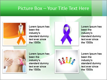 Green Cancer Symbol PowerPoint Templates - Slide 14