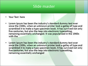 Green Cancer Symbol PowerPoint Templates - Slide 2