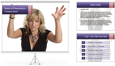 Irritated Middle-Aged Woman PowerPoint Template