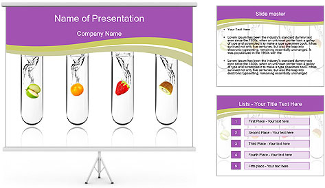 Chemical Fruits PowerPoint Template