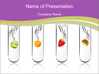 Chemical Fruits PowerPoint Template - Slide 1