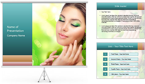 Spring Lady PowerPoint Template
