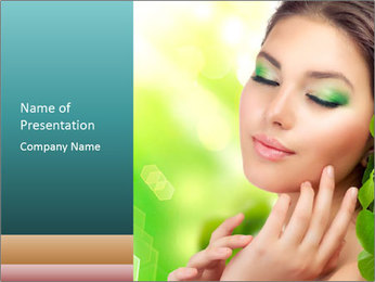 Spring Lady PowerPoint Template - Slide 1
