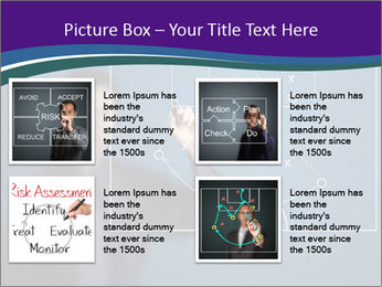 Man Drawing Business Tactic PowerPoint Template - Slide 14
