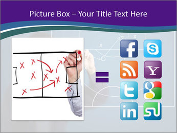 Man Drawing Business Tactic PowerPoint Template - Slide 21