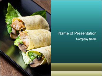 Mexican Dish PowerPoint Templates - Slide 1