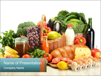 Food Consumption PowerPoint Templates - Slide 1