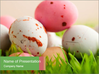 Eggs Decoration PowerPoint Template - Slide 1