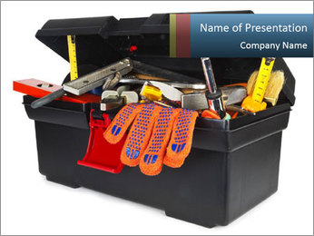 Big Box Full Of Instruments PowerPoint Template - Slide 1