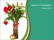 Red Flowers In Vase PowerPoint Templates