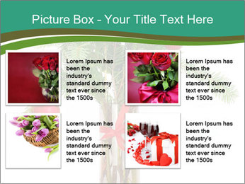 Red Flowers In Vase PowerPoint Templates - Slide 14