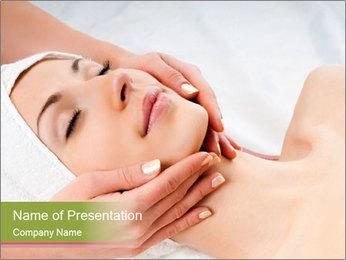 Facial Massage Treatment PowerPoint Template - Slide 1
