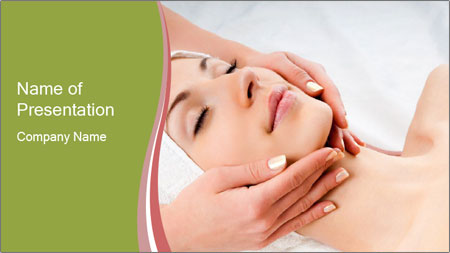 Facial Massage Treatment PowerPoint Template