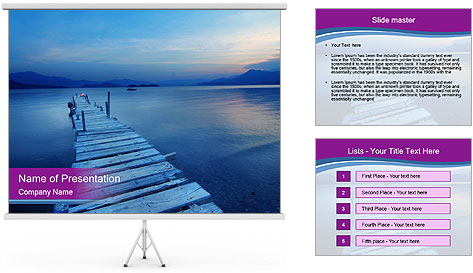 Moody Lake PowerPoint Template