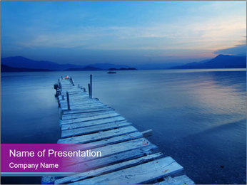 Moody Lake PowerPoint Template - Slide 1