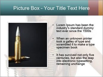 Sexy Woman With Bullets PowerPoint Template - Slide 13