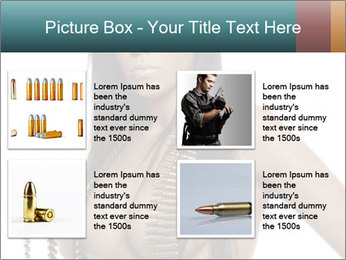 Sexy Woman With Bullets PowerPoint Template - Slide 14