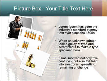 Sexy Woman With Bullets PowerPoint Template - Slide 17