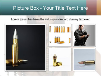 Sexy Woman With Bullets PowerPoint Template - Slide 19