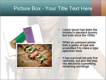 Sexy Woman With Bullets PowerPoint Template - Slide 20