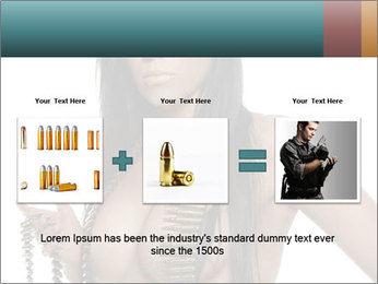 Sexy Woman With Bullets PowerPoint Template - Slide 22