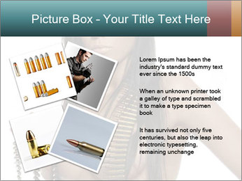 Sexy Woman With Bullets PowerPoint Template - Slide 23