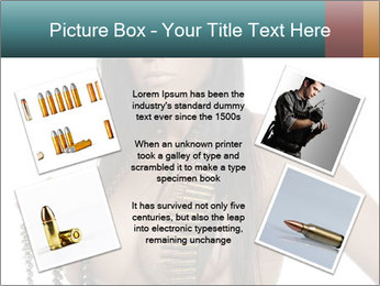 Sexy Woman With Bullets PowerPoint Template - Slide 24
