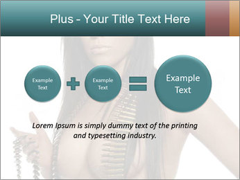 Sexy Woman With Bullets PowerPoint Template - Slide 75
