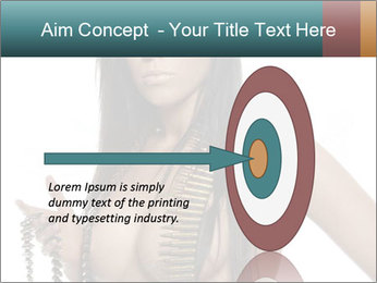 Sexy Woman With Bullets PowerPoint Template - Slide 83