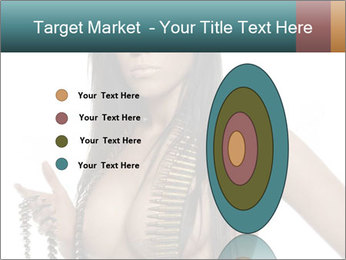 Sexy Woman With Bullets PowerPoint Template - Slide 84