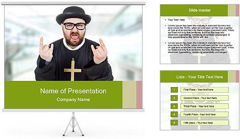 Crazy Evangelist PowerPoint Template