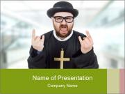 Crazy Evangelist PowerPoint Template
