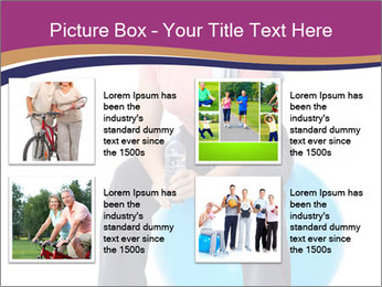 Woman Sitting On Blue Gym Ball PowerPoint Template - Slide 14