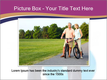 Woman Sitting On Blue Gym Ball PowerPoint Template - Slide 15