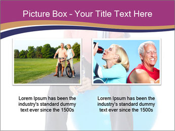 Woman Sitting On Blue Gym Ball PowerPoint Template - Slide 18