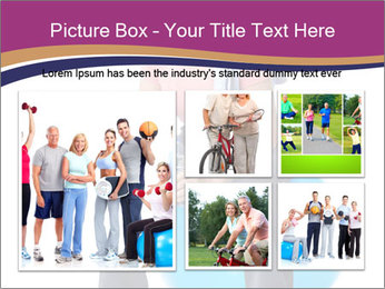 Woman Sitting On Blue Gym Ball PowerPoint Template - Slide 19