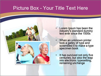 Woman Sitting On Blue Gym Ball PowerPoint Template - Slide 20