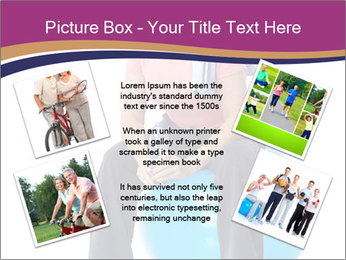 Woman Sitting On Blue Gym Ball PowerPoint Template - Slide 24