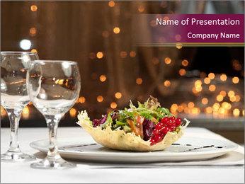 Beautiful Dinnerware PowerPoint Template - Slide 1